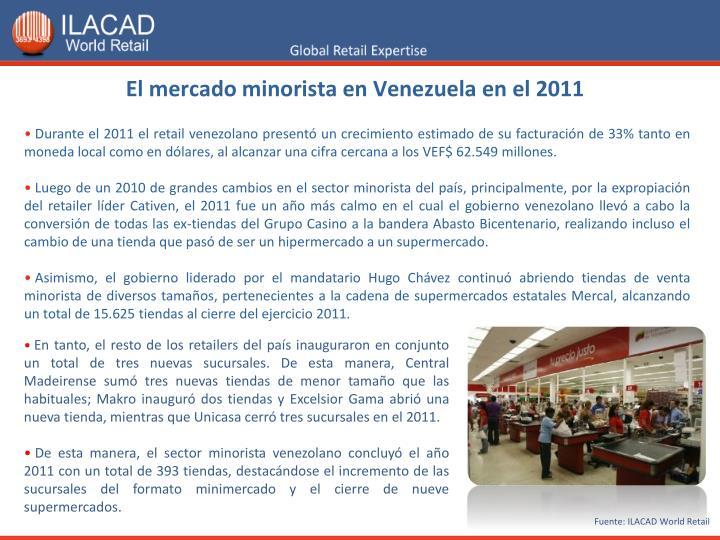 El mercado minorista en Venezuela en el 2011