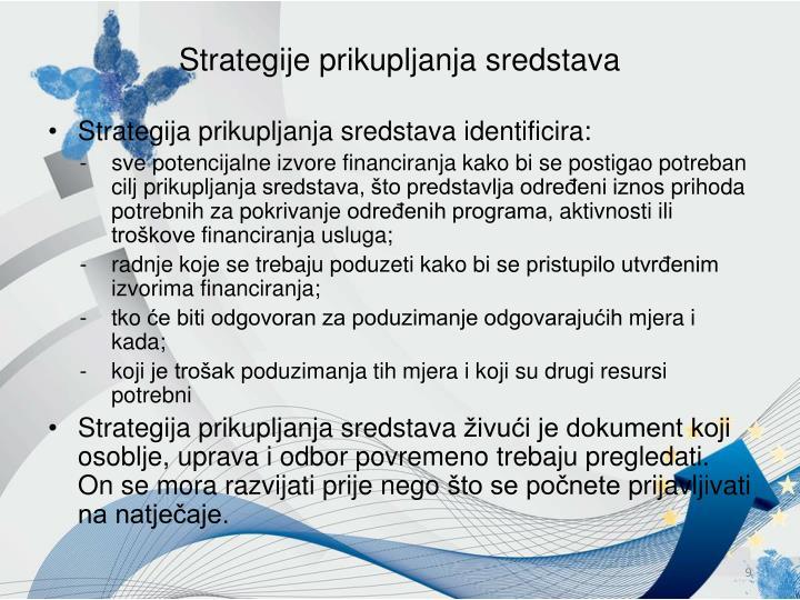Strategije prikupljanja sredstava