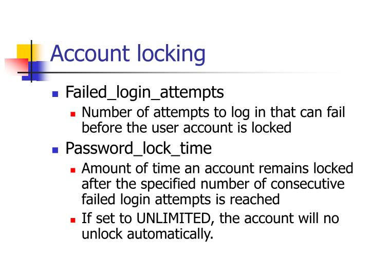 Account locking
