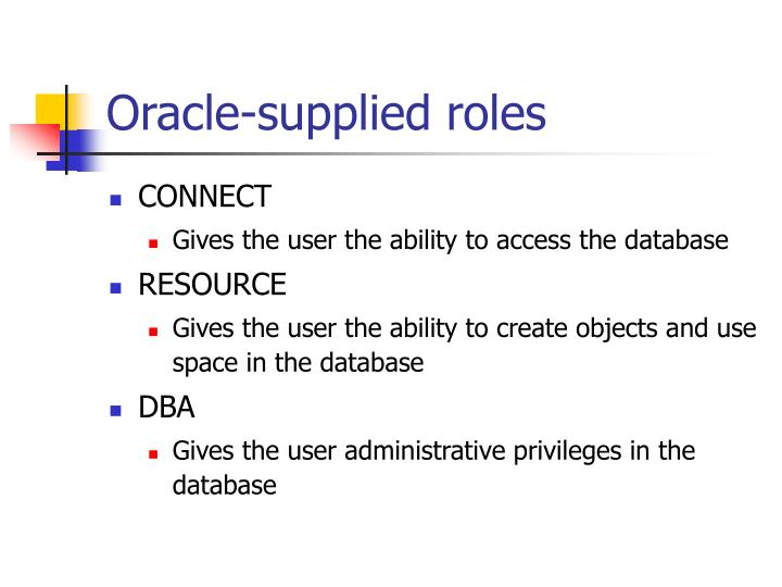 Oracle-supplied roles
