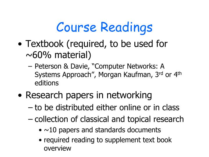 Course Readings