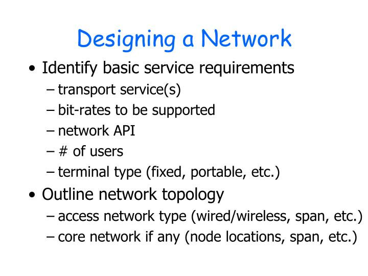 Designing a Network