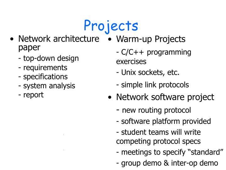 Network architecture paper