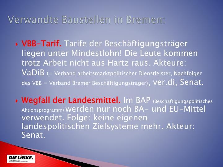 Verwandte Baustellen in Bremen: