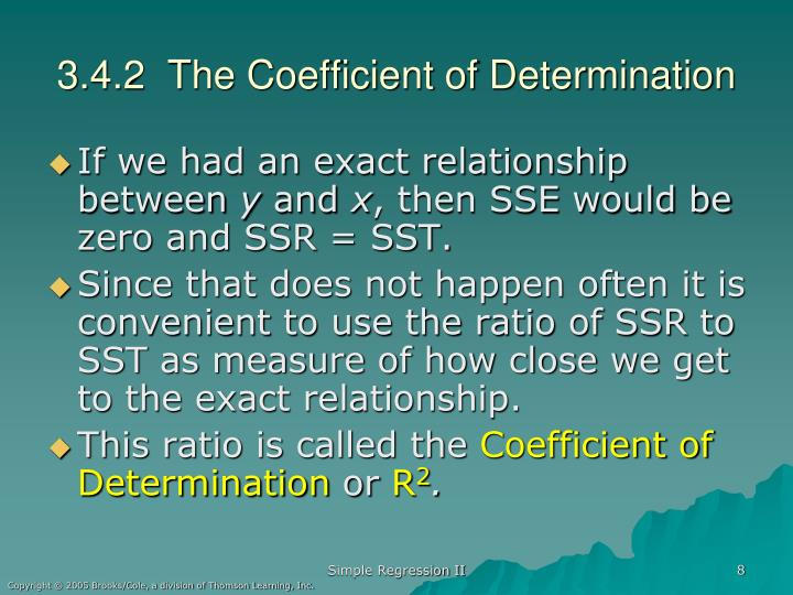 3.4.2  The Coefficient of Determination