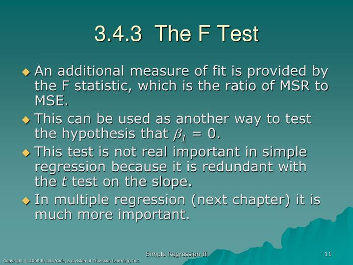 3.4.3  The F Test