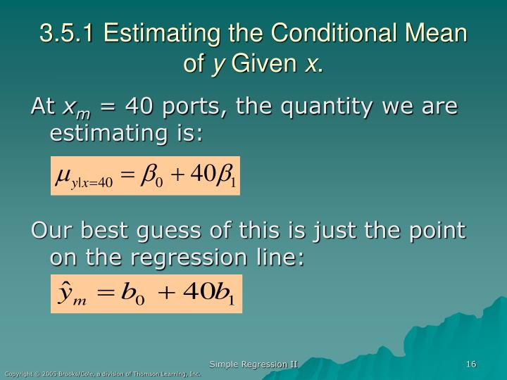 3.5.1 Estimating the Conditional Mean of