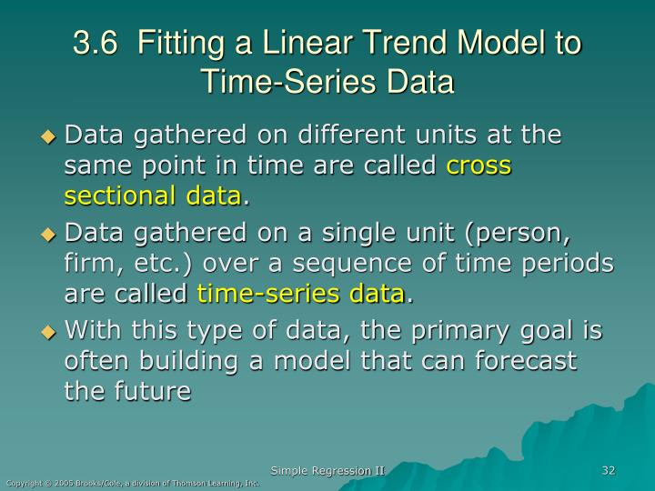 3.6  Fitting a Linear Trend Model to Time-Series Data