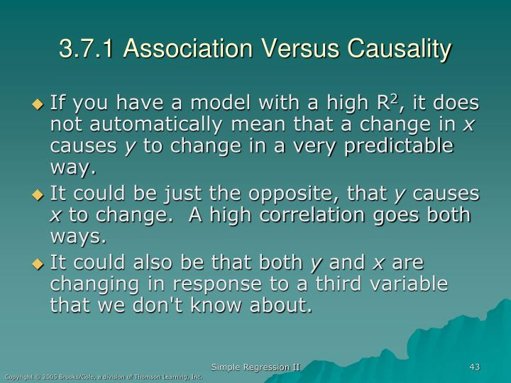 3.7.1 Association Versus Causality