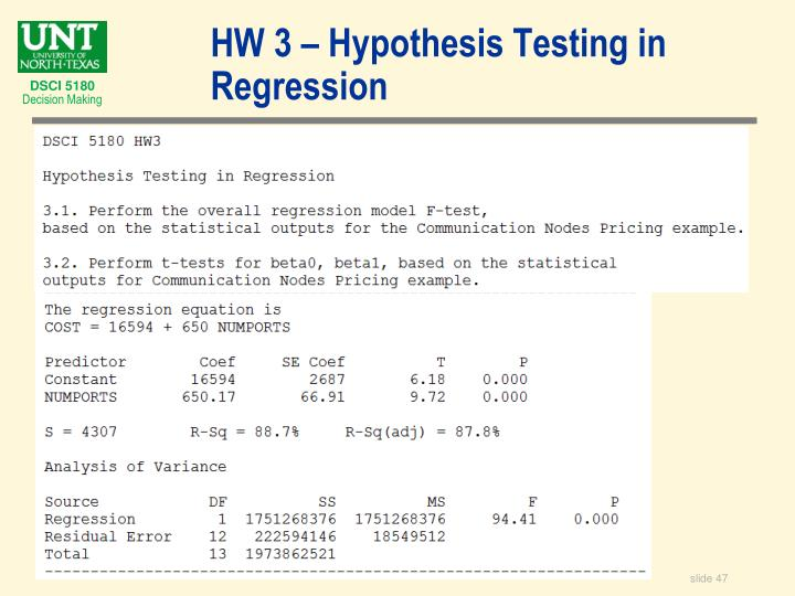 HW 3 – Hypothesis Testing in Regression