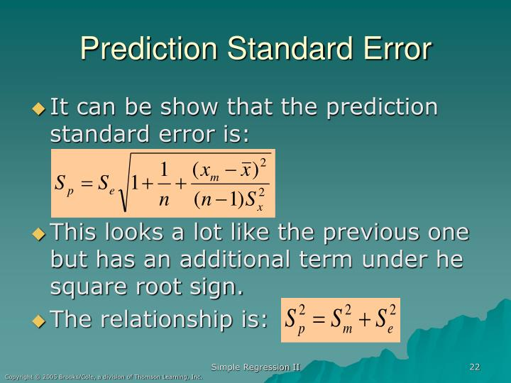Prediction Standard Error