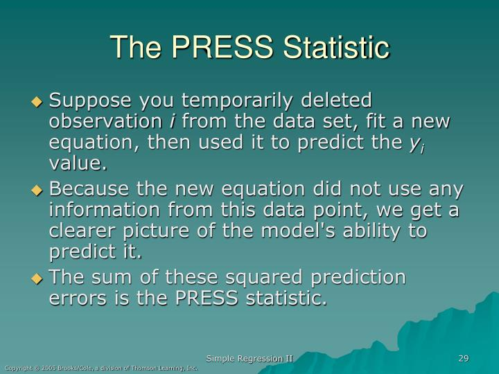 The PRESS Statistic