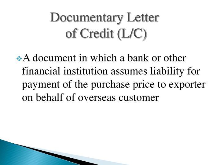 Documentary Letter