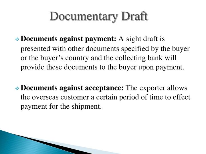 Documentary Draft