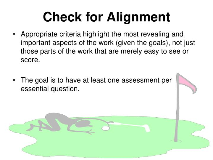 Check for Alignment