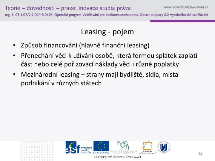 Leasing - pojem