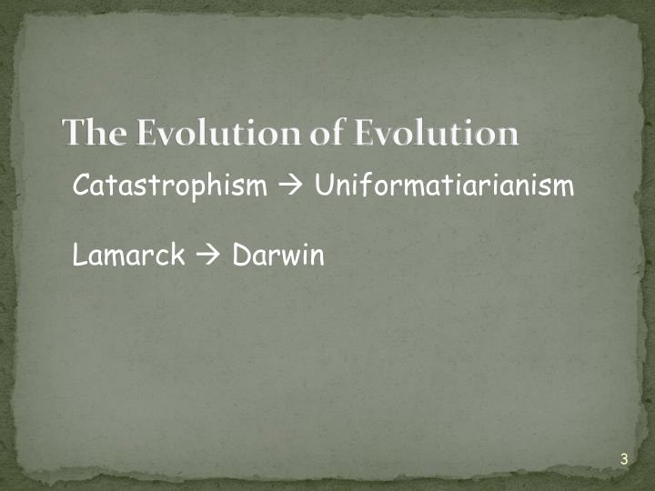 The Evolution of Evolution