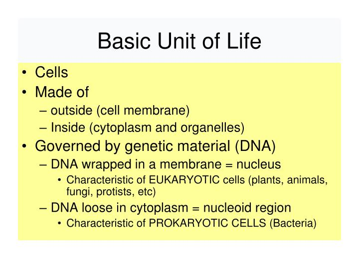 Basic Unit of Life