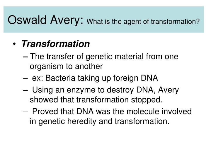 Oswald Avery: