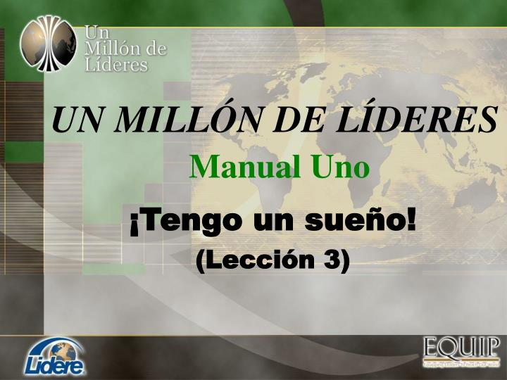 Un mill n de l deres manual uno