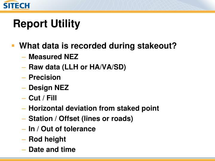 Report Utility