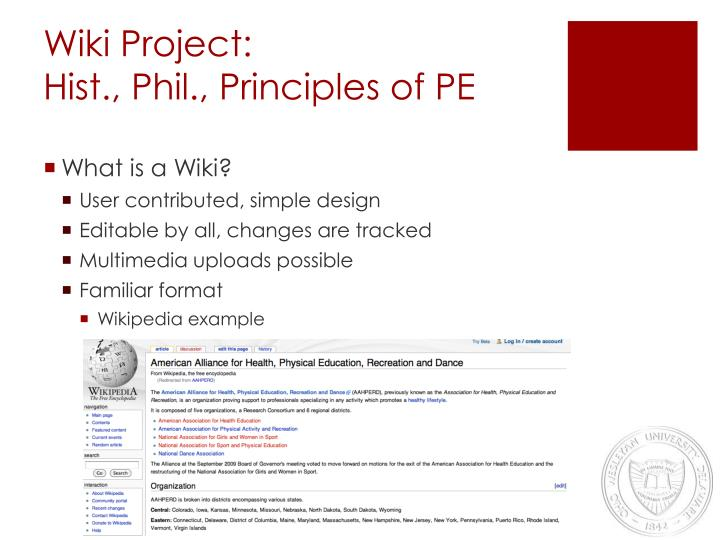 Wiki Project: