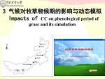 3 impacts of cc on phenological period of grass and its simulation