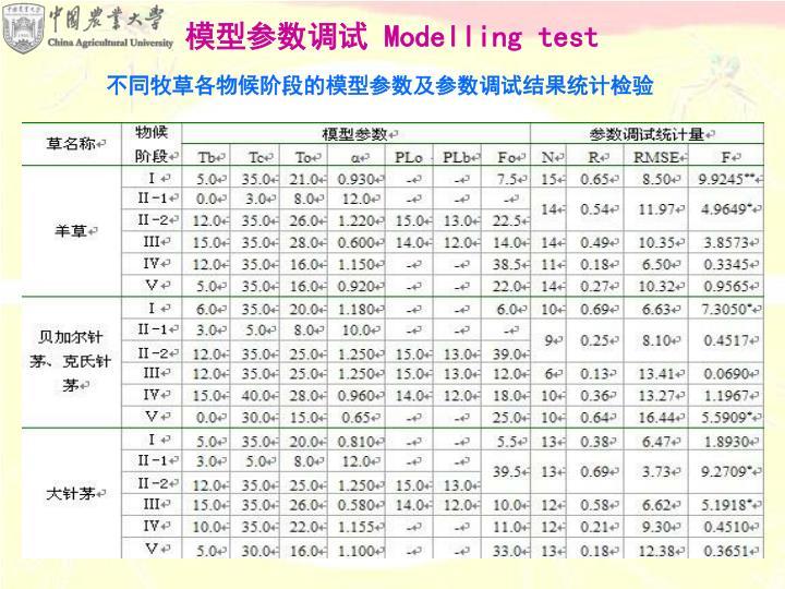 模型参数调试