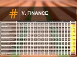v finance