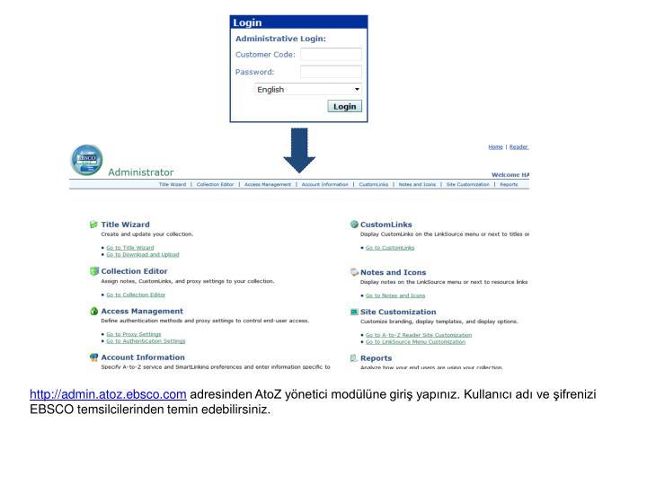 http://admin.atoz.ebsco.com