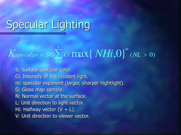Specular Lighting