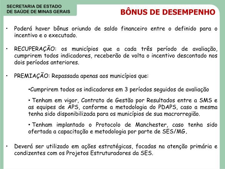 BÔNUS DE DESEMPENHO