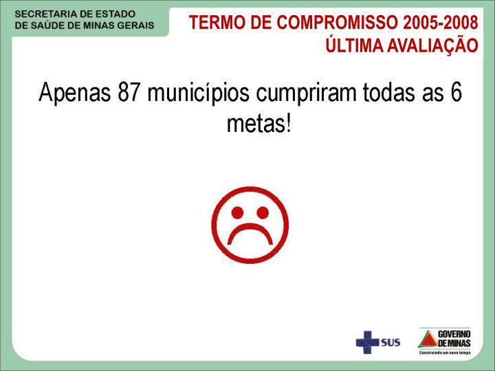 TERMO DE COMPROMISSO 2005-2008