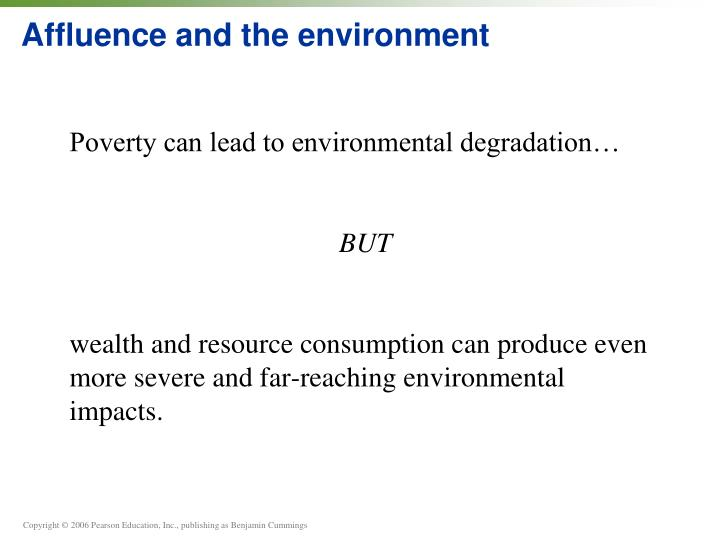 Affluence and the environment