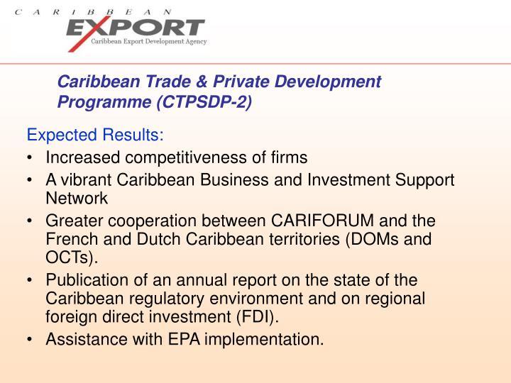 Caribbean Trade & Private Development Programme (CTPSDP-2)