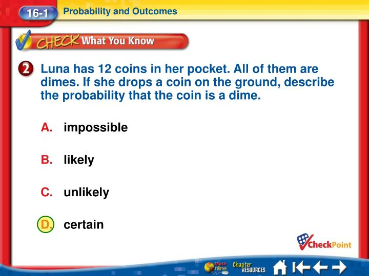 Probability and Outcomes