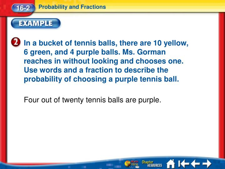 Probability and Fractions