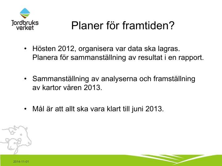Planer för framtiden?