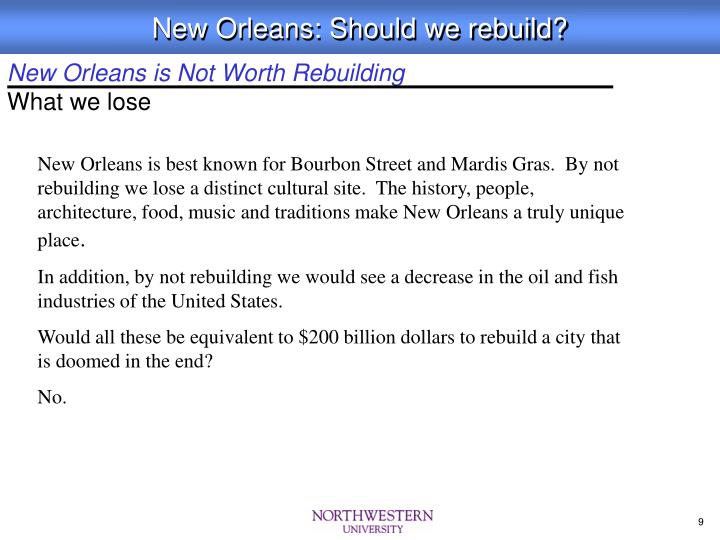 New Orleans is Not Worth Rebuilding