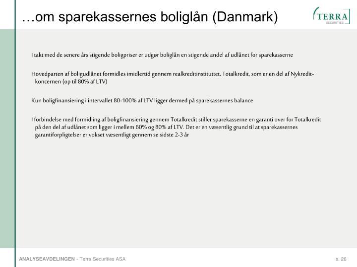 …om sparekassernes boliglån (Danmark)
