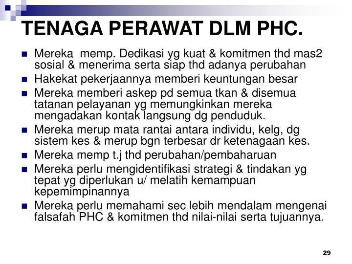 TENAGA PERAWAT DLM PHC.