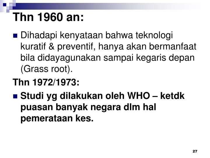Thn 1960 an:
