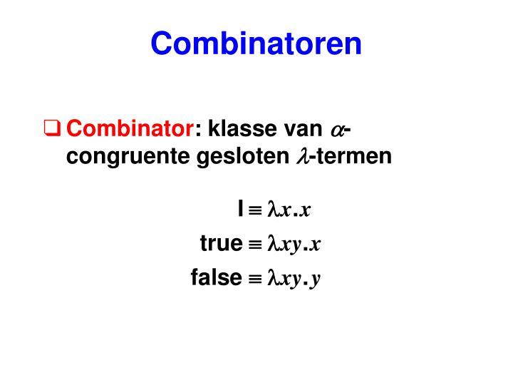 Combinatoren