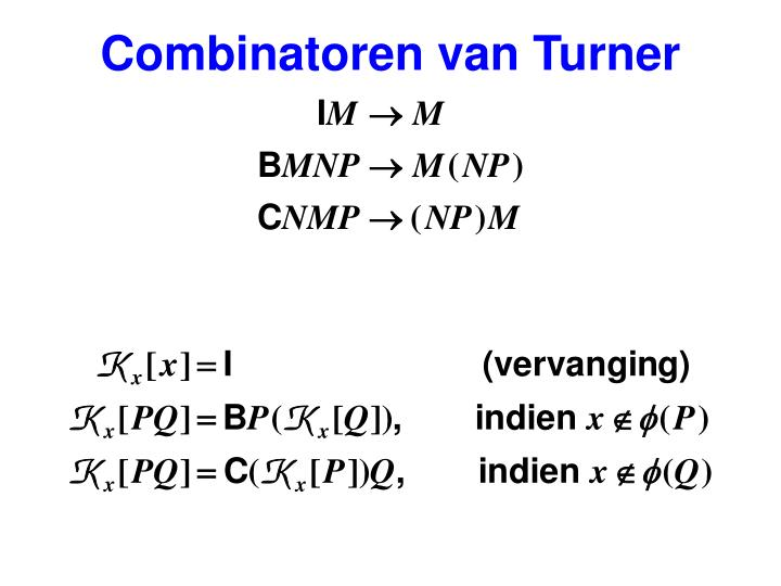 Combinatoren van Turner