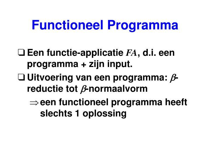 Functioneel Programma