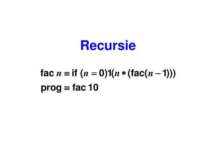 Recursie