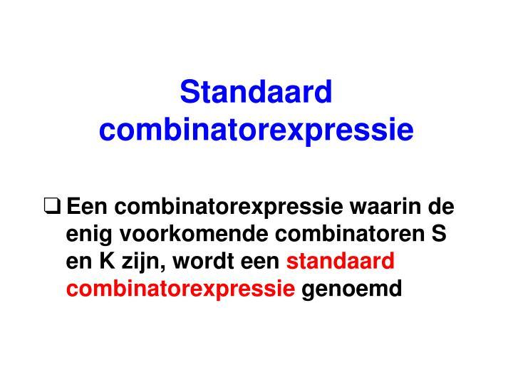 Standaard combinatorexpressie