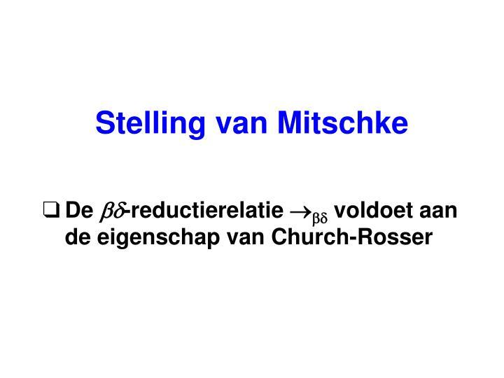Stelling van Mitschke