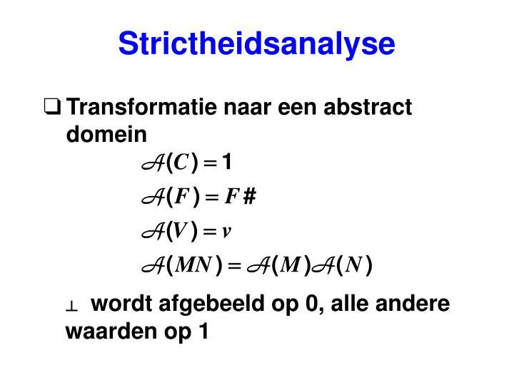 Strictheidsanalyse