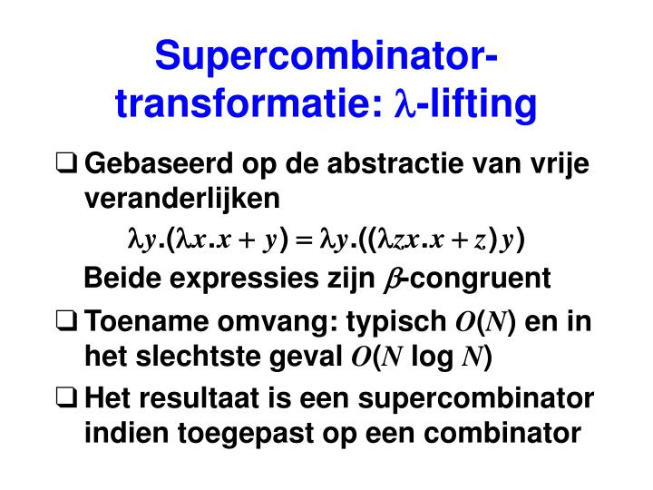 Supercombinator-transformatie: